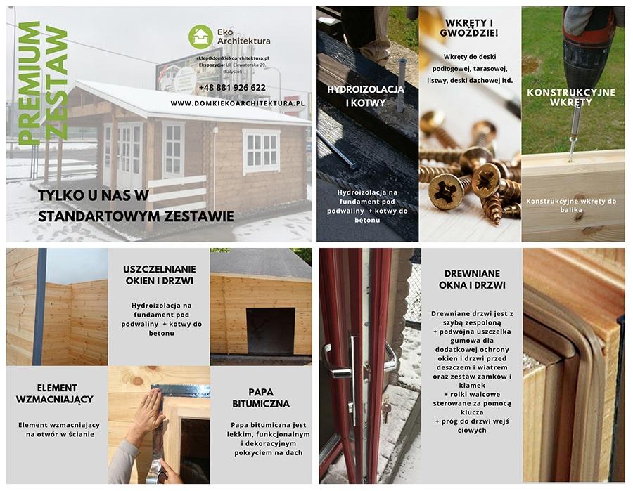 Czersk Vsp25 Domek Drewniany Do Samodzielnego Montażu